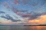Full Moon over Narragansett Bay near Wickford Harbor at Sunset, Village of Wickford, North Kingstown, RI