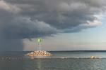 Thunderstorm over Narragansett Bay at Entrance to Wickford Harbor, Village of Wickford, North Kingstown, RI