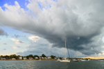 Dramatic Storm Clouds over Boats in Wickford Harbor, Narragansett Bay, Village of Wickford, North Kingstown, RI