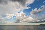 Dramatic Clouds over Narragansett Bay near Wickford Harbor, Village of Wickford, North Kingstown, RI