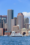 Boston Harbor Cruise with View of Boston Skyline from the Water, Boston Waterfront and Harbor, Boston, MA