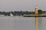 Avery Point and New London Lighthouses, Thames River and Long Island Sound, Groton and New London, CT