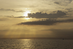 Early Morning Sun and Clouds over Block Island Sound and Atlantic Ocean, off Montauk, East Hampton, NY