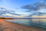 Shoreline along Wades Beach in Late Evening Light, West Neck Harbor and Shelter Island Sound, Shelter Island, NY