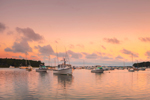 Early Morning Light over Boats in Lake Tashmoo, Vineyard Haven, Martha's Vineyard, Tisbury, MA