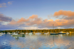 Sunrise over Boats in Lake Tashmoo, Vineyard Haven, Martha's Vineyard, Tisbury, MA