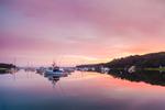 Sunrise over Boats in Lake Tashmoo, Vineyard Haven, Martha's Vineyard, Tisbury, MA