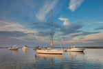 Late Evening Light over Boats in Cuttyhunk Pond, Cuttyhunk Island, Elizabeth Islands, Town of Gosnold, MA
