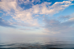 Silky Waters of Buzzards Bay with Early Morning Clouds and Fog, Off Cuttyhunk Island, Elizabeth Islands, Town of Gosnold, MA