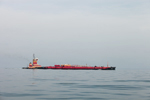 Red Barge in Fog, Buzzards Bay and Atlantic Ocean off Cuttyhunk Island and Westport, MA