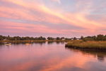 Sunset over Salt Marshes and Residences in North Cove, Harbor of Refuge, Connecticut River, Old Saybrook, CT
