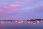 Boats at Sunset in North Cove, Harbor of Refuge, Connecticut River, Old Saybrook, CT