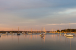Early Evening Light Shines on Boats in North Cove, Harbor of Refuge, Connecticut River, Old Saybrook, CT