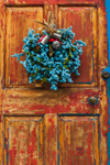 Close Up of Old Door with Wreath at Prentice Pendleton House, Built 1819, Essex, CT