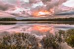 Dramatic Sunrise at Lake Dennison, Lake Dennison Recreation Area, Birch Hill Wildlife Management Area, Winchendon, MA