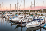 Late Evening Light on Boats in Pirate Cove Marina, Tiverton Basin, Sakonnet River, Portsmouth, RI