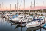Late Evening Light on Boats in Pirate Cove Marina, Tiverton Basin, Sakonnet River, Portsmouth, RI