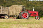 1946 McCormick Farmall H Tractor with Two Hay Wagons, Pardon Gray Preserve, Tiverton Land Trust, Tiverton, RI