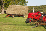 1954 McCormick Farmall Super H Tractor with Hay Wagon and Antique Farm Equipment, Pardon Gray Preserve, Tiverton Land Trust, Tiverton, RI