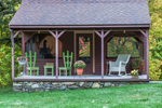 Colorful Porch of Screened Summer House, Royalston, MA