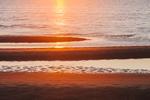 Sunset on Sandbars at Thumpertown Beach on Cape Cod Bay, Cape Cod, Eastham, MA
