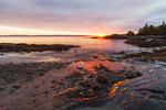 Sunrise over Dorr Point and Compass Harbor, Acadia National Park, Mt Desert Island, Bar Harbor, ME