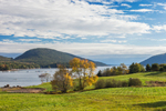 View of Somes Sound and Norumbega Mountain in Fall, Acadia National Park, Mt Desert Island, Mt Desert, ME