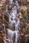 Waterfalls on Hadlock Brook, View from under Waterfall Bridge, Hadlock Brook Trail, Acadia National Park, Mt Desert Island, Mt Desert, ME