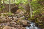 Cobblestone Bridge over Boulder-strewn Jordan Stream, near Jordan Pond House, Acadia National Park, Mt Desert Island, Mount Desert, ME