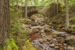 Cobblestone Bridge over Boulder-strewn Jordan Stream, near Jordan Pond House, Acadia National Park, Mt Desert Island, Mount Desert, ME