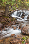 Waterfalls on Jordan Stream in Autumn, near Jordan Pond House, Acadia National Park, Mt Desert Island, Mount Desert, ME