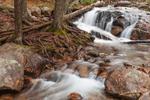 Waterfalls on Jordan Stream in Autumn, near Jordan Pond House, Acadia National Park, Mt Desert Island, Mount Desert, ME