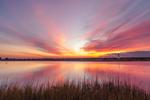 Edgartown Lighthouse and Salt Pond at Sunrise, Martha's Vineyard, Edgartown, MA