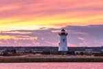 Edgartown Lighthouse and Salt Pond at Sunrise, Martha's Vineyard, Edgartown, MA