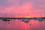 Sunrise over Sailboats in Vineyard Haven Harbor, Martha's Vineyard, Vineyard Haven, Tisbury, MA