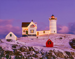 Holiday Lights at Nubble Light (Cape Neddick Light), Cape Neddick, York, ME