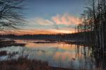 Sunset over Wetlands at Bow Brook, Quabbin Reservation, New Salem, MA