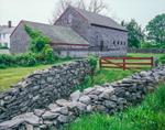 Stone Walls and Weathered Cedar-shingled Barn, North Kingstown, RI