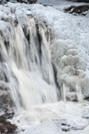 Doanes Falls (Lower Falls) on Lawrence Brook in Winter Snow and Ice, Royalston, MA