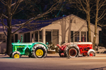 Farm Tractors with Holiday Lights, Phillipston, MA