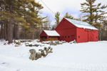 Red Barn, Woodshed, and Stonewalls at Elephant Rock Farm, Fitzwilliam, NH