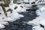 Snow and Ice along Priest Brook in Winter, Fitzwilliam, NH
