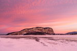 Winter Sunrise over Mount Kineo and Frozen Moosehead Lake, View from Rockwood, ME