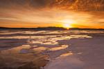 Rising Sun over Frozen Moosehead Lake in Winter, Rockwood, ME