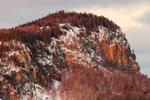 Close Up of Mount Kineo Summit in Late Evening Light, View from Rockwood, ME