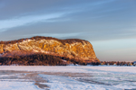 Mount Kineo and Frozen Moosehead Lake in Early Morning Light, Rockwood, ME