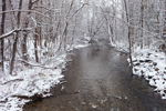 West Branch Salmon Brook at Holcomb Hill Preserve in Winter, Granby, CT