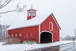 Big Red Barn with Cupola in Winter, West Granby, Town of Granby, CT