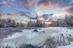 Winter Sunrise at Sportsman Pond, Fitzwilliam, NH