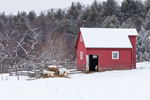 Small Red Barn and Goats, West Windsor, VT